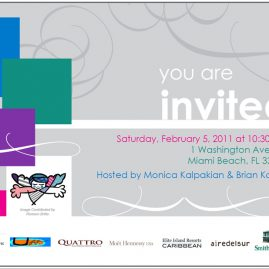 ARC Angel event invitation, Miami brunch design