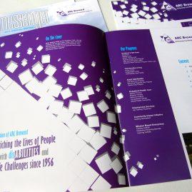 ARC Broward Messenger Newsletter, layout design