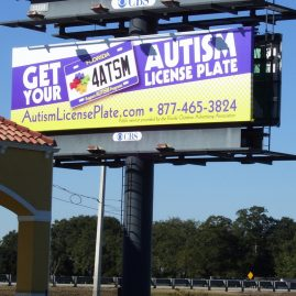 Florida Autism Plate outdoor billboard