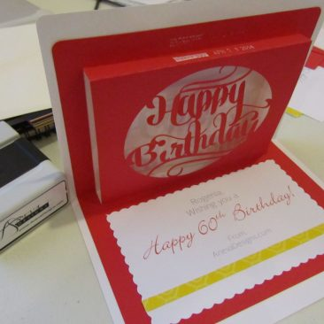 Birthday Pop-Up Card - red
