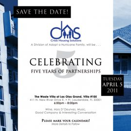 Crisis Housing Solutions - Save the Date invitation