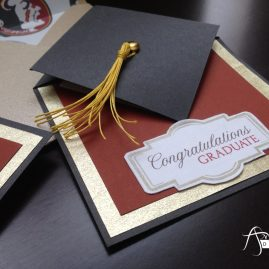 Handmade Graduation Card Fold Cap