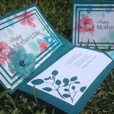Mother's Day triple layer cards and embellishments