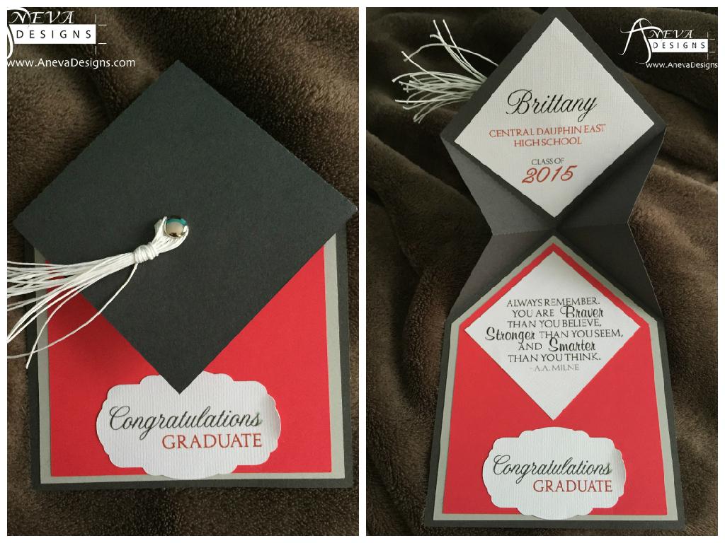 Graduation Fold Cap Card - Aneva Designs, LLC