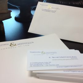 Rogatinsky Matthews Law Firm Stationary - business cards, letterhead, envelopes