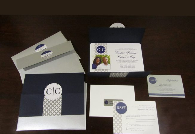 Gray Navy Wedding Package
