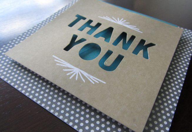 Thank You Shadow Card