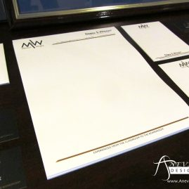 Mentor with Wright stationery letterhead, note card, and envelopes