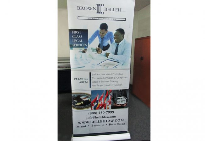 Belleh Law Retractable Banner