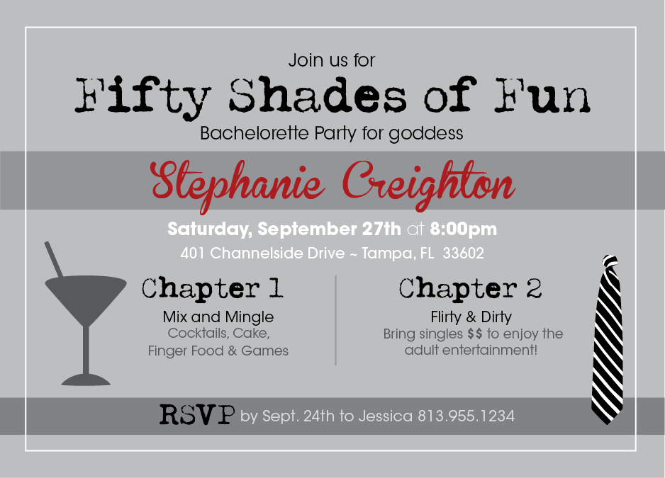 Fifty Shades Bachelorette Party Designs Aneva Designs Llc