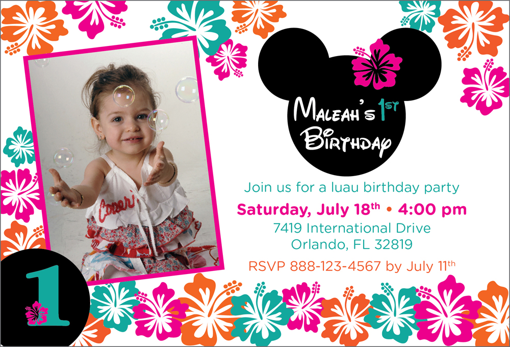 Summer Minnie Mouse Luau Themed Birthday Party