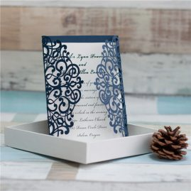 Laser Cut invitation wrap