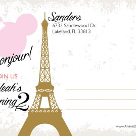 Paris Minnie Mouse Party Invitation