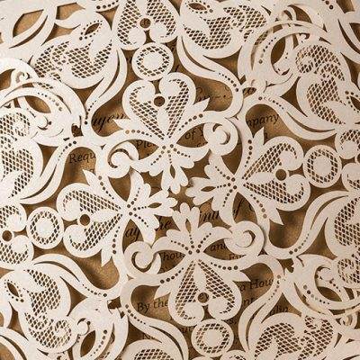 Intricate Symmetry Four Pattern Laser Cut Wedding Invitation - pattern