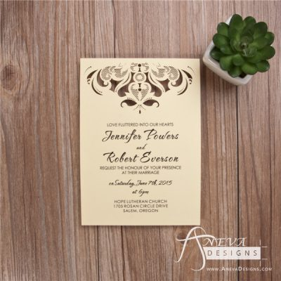 Intricate Symmetry Top Wedding Invitation