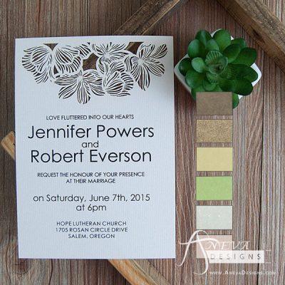 Fine Flower Top wedding invitations