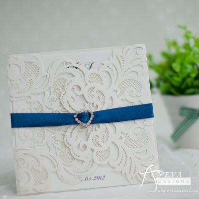 Charm Symmetrical laser cut invitation