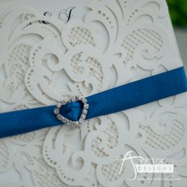 Charm Symmetrical laser cut invitation - detail