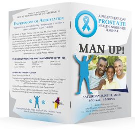 Prostate Health Awareness program covers.